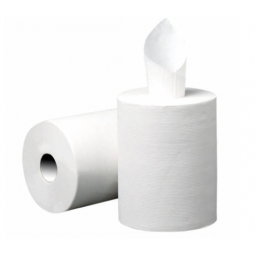 Bobina de papel secamanos mecha mini de doble capa 6 ud