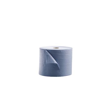 Bobina de papel industrial azul de triple capa 380 m 2ud