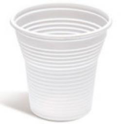 Vaso de plástico blanco de 166 cc 3000 ud