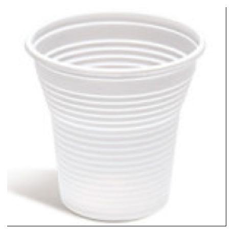 Vaso de plástico blanco de 166 cc