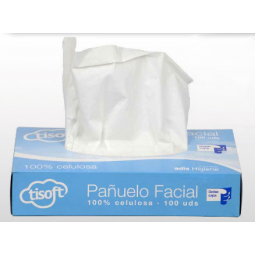 Pañuelo Facial Tisoft de doble capa blanco 4000 ud