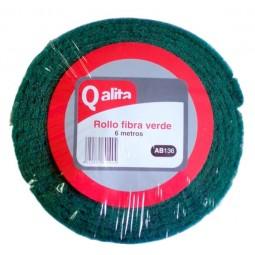 Estropajo en rollo de fibra verde extra Qalita