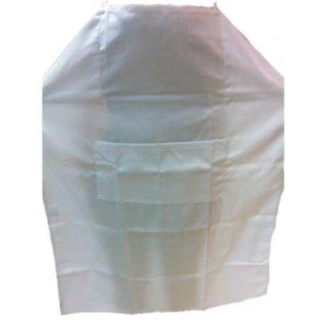 Delantal tela blanco con peto