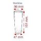 Vaso de tubo desechable de poliestireno VIC 300 cc Nupik medidas