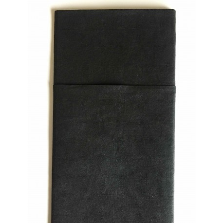Servilleta kanguritos de tissue seco negro 40x40 cm