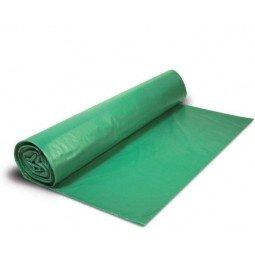 Bolsa para basura doméstica verde con autocierre 840 ud