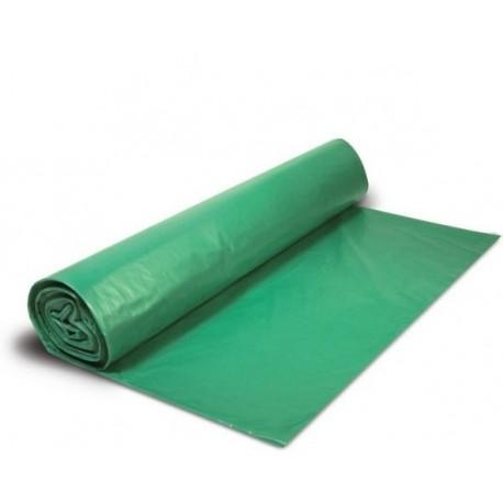 Bolsa para basura verde con autocierre