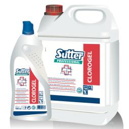 Clorogel detergente higienizante con cloro activo de Sutter 4x5 L