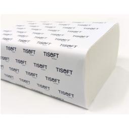Toalla de papel desechable Tisoft de triple capa y plegado W 1875 ud