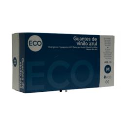 Guante vinilo ECO azul sin polvo t/m
