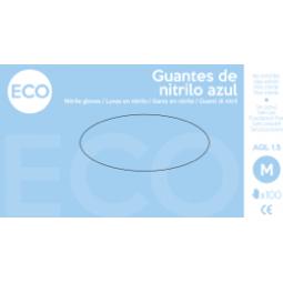 Guante de nitrilo Eco sin polvo azul 100 ud