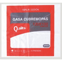Gasas cubremopas de algodón Qalita 25 ud