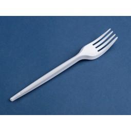 Tenedor de plástico desechable blanco 3000ud