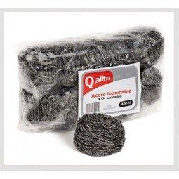 Estropajo de acero inox st Qalita 10 ud